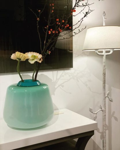 Vase vert d'eau - JM Wintrebert