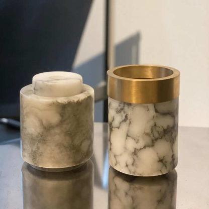 Michael Verheyden - Vase Albâtre (petit modèle) Vase & Albâtre et Laiton