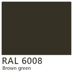 RAL laque 6008 brown green