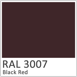 RAl laque 3007 black red